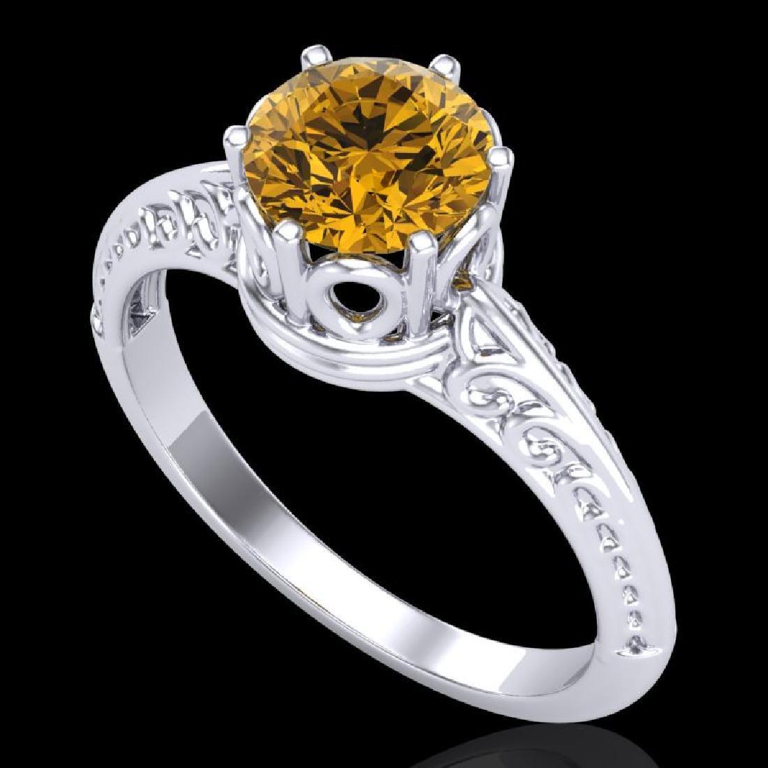 1 CTW Intense Yellow Diamond Solitaire Engagement Art