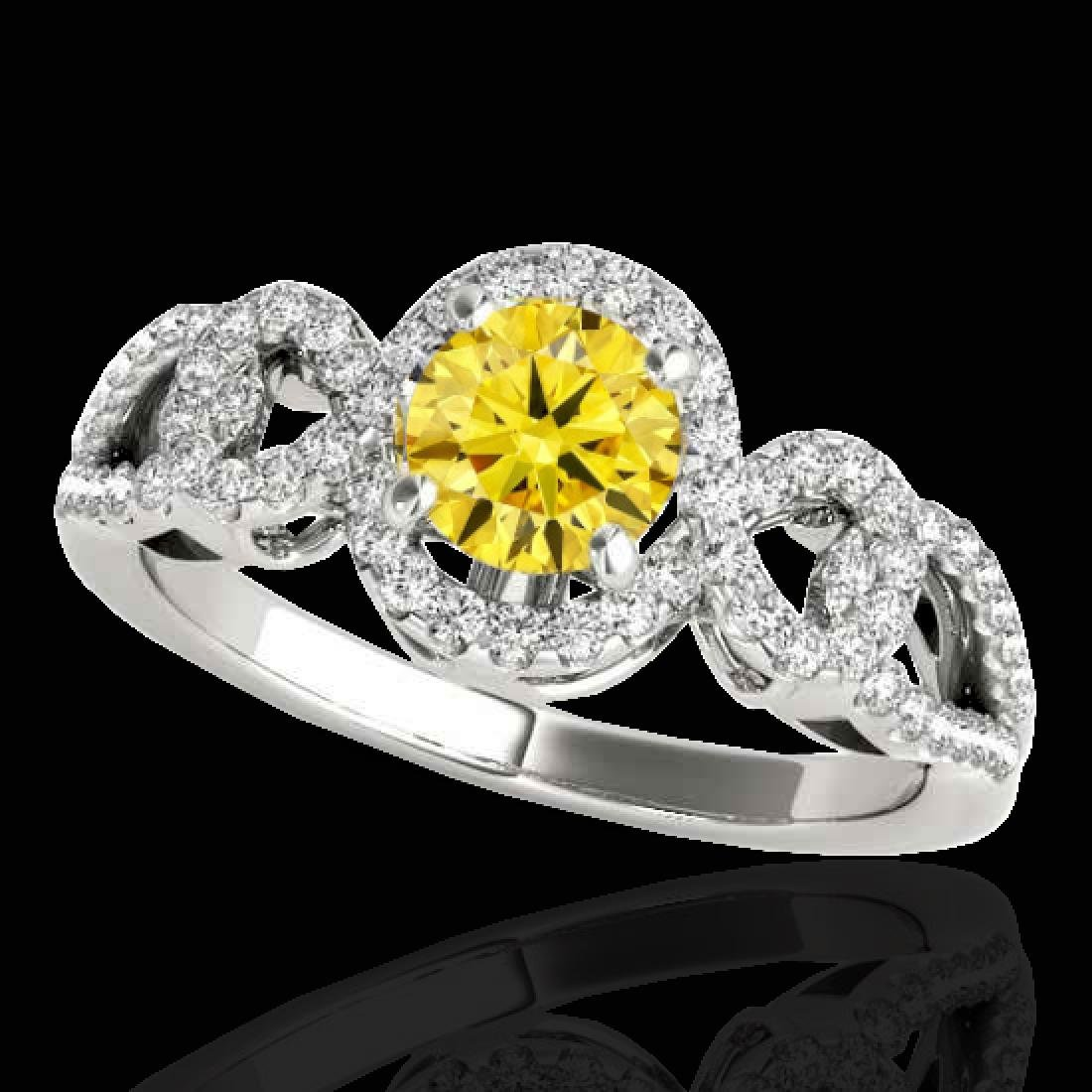 1.38 CTW Certified SI/I Fancy Intense Yellow Diamond