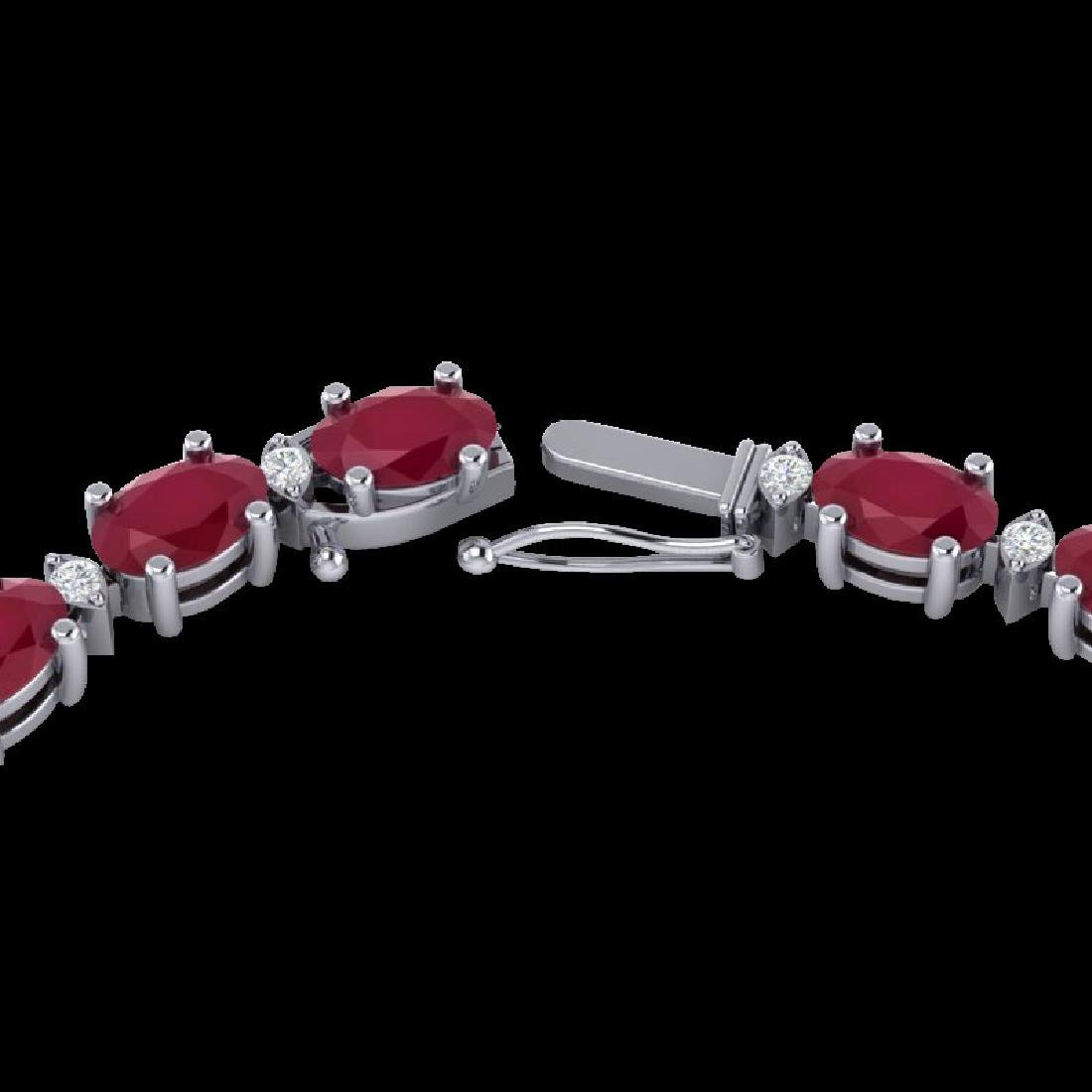 35 CTW Ruby & VS/SI Diamond Eternity Tennis Necklace
