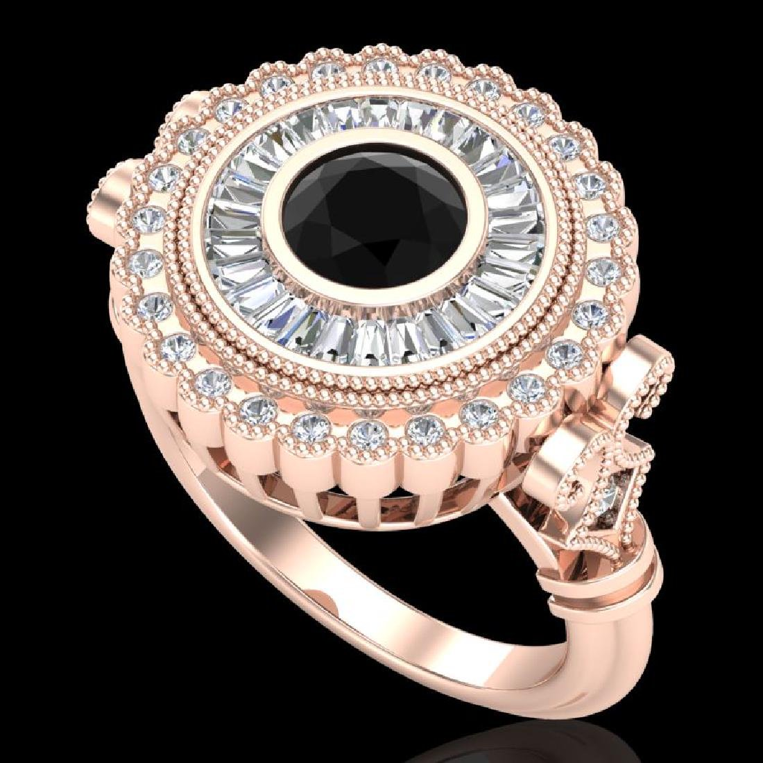 2.03 CTW Fancy Black Diamond Solitaire Engagement Art