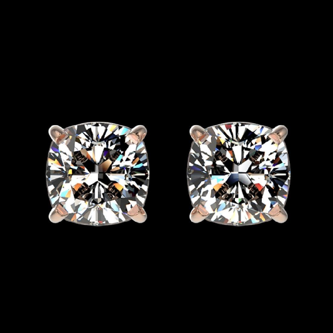 1 CTW Certified VS/SI Quality Cushion Cut Diamond Stud