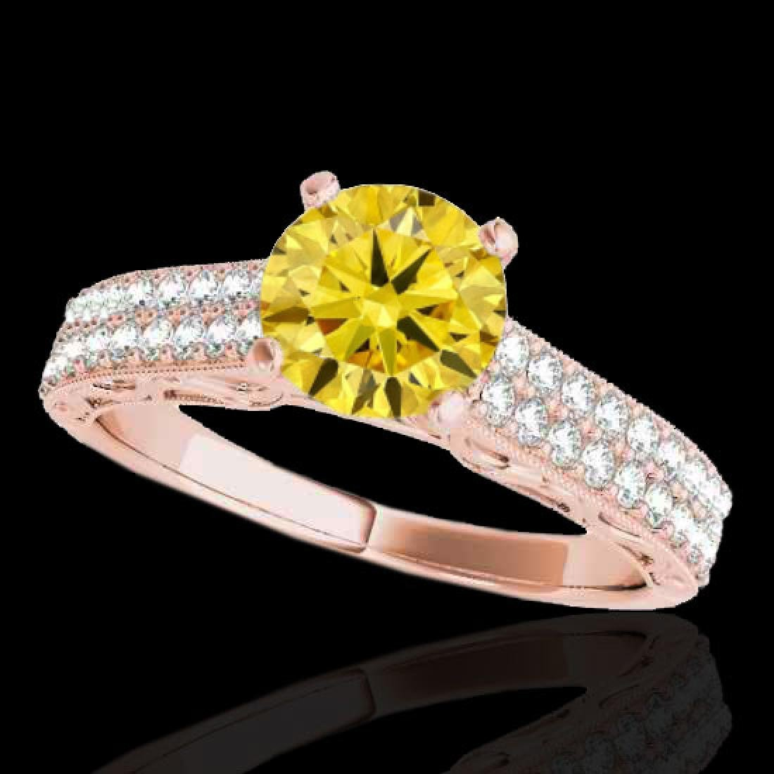 1.91 CTW Certified Si Intense Yellow Diamond Solitaire
