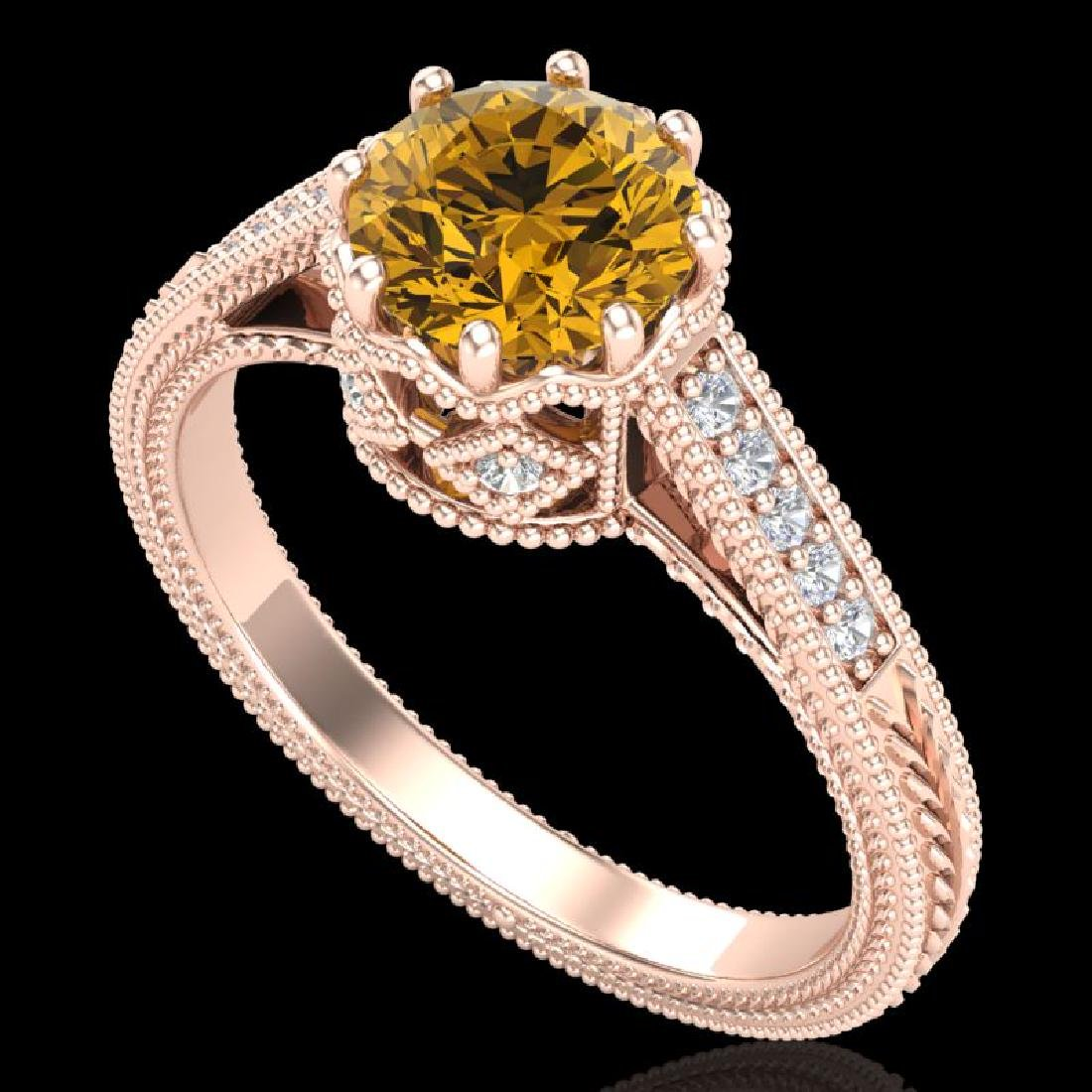 1.25 CTW Intense Fancy Yellow Diamond Engagement Art