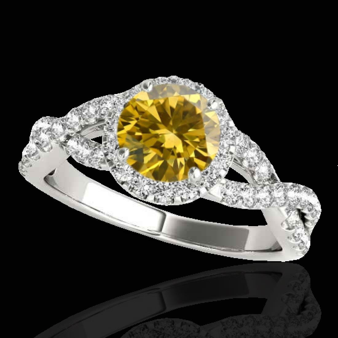 1.54 CTW Certified SI/I Fancy Intense Yellow Diamond