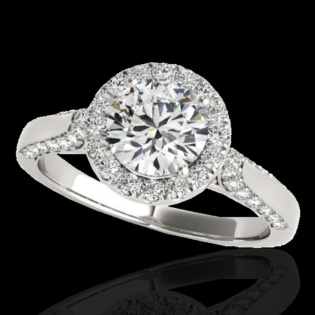 1.5 CTW H-SI/I Certified Diamond Solitaire Halo Ring