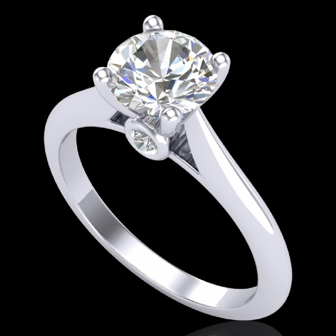 1.36 CTW VS/SI Diamond Solitaire Art Deco Ring 18K