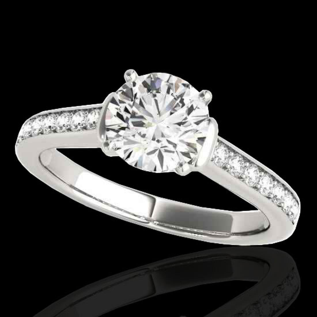 1.5 CTW H-SI/I Certified Diamond Solitaire Ring 10K