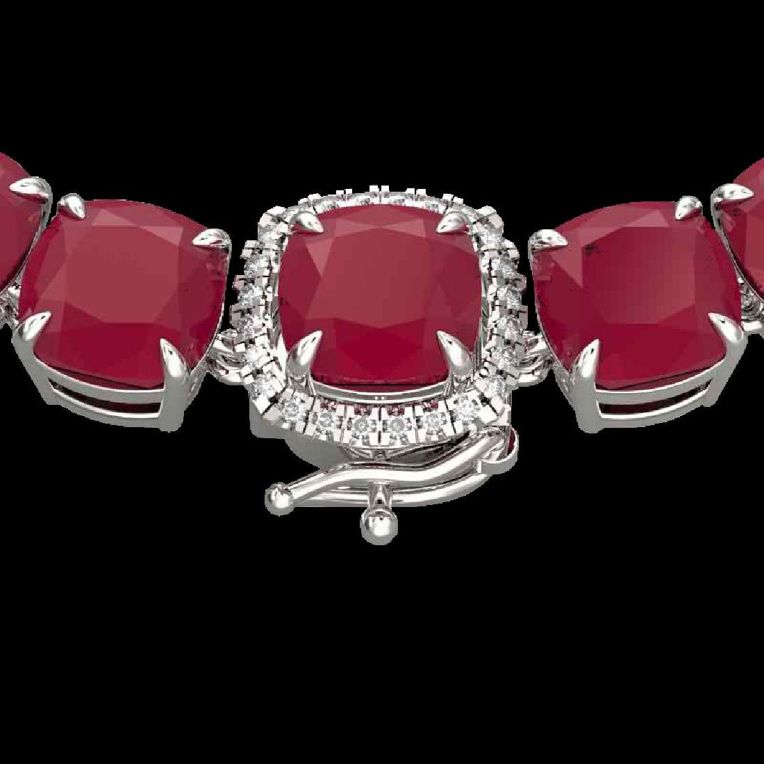 116 CTW Ruby & VS/SI Diamond Halo Micro Eternity