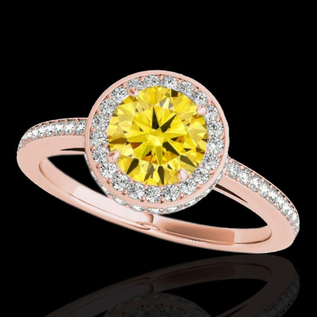 1.55 CTW Certified SI/I Fancy Intense Yellow Diamond