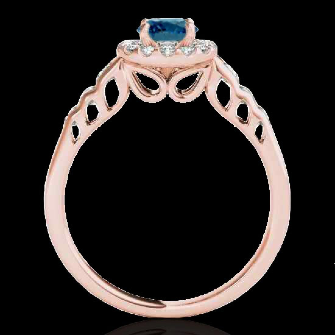1.55 CTW SI Certified Fancy Blue Diamond Solitaire Halo - 2