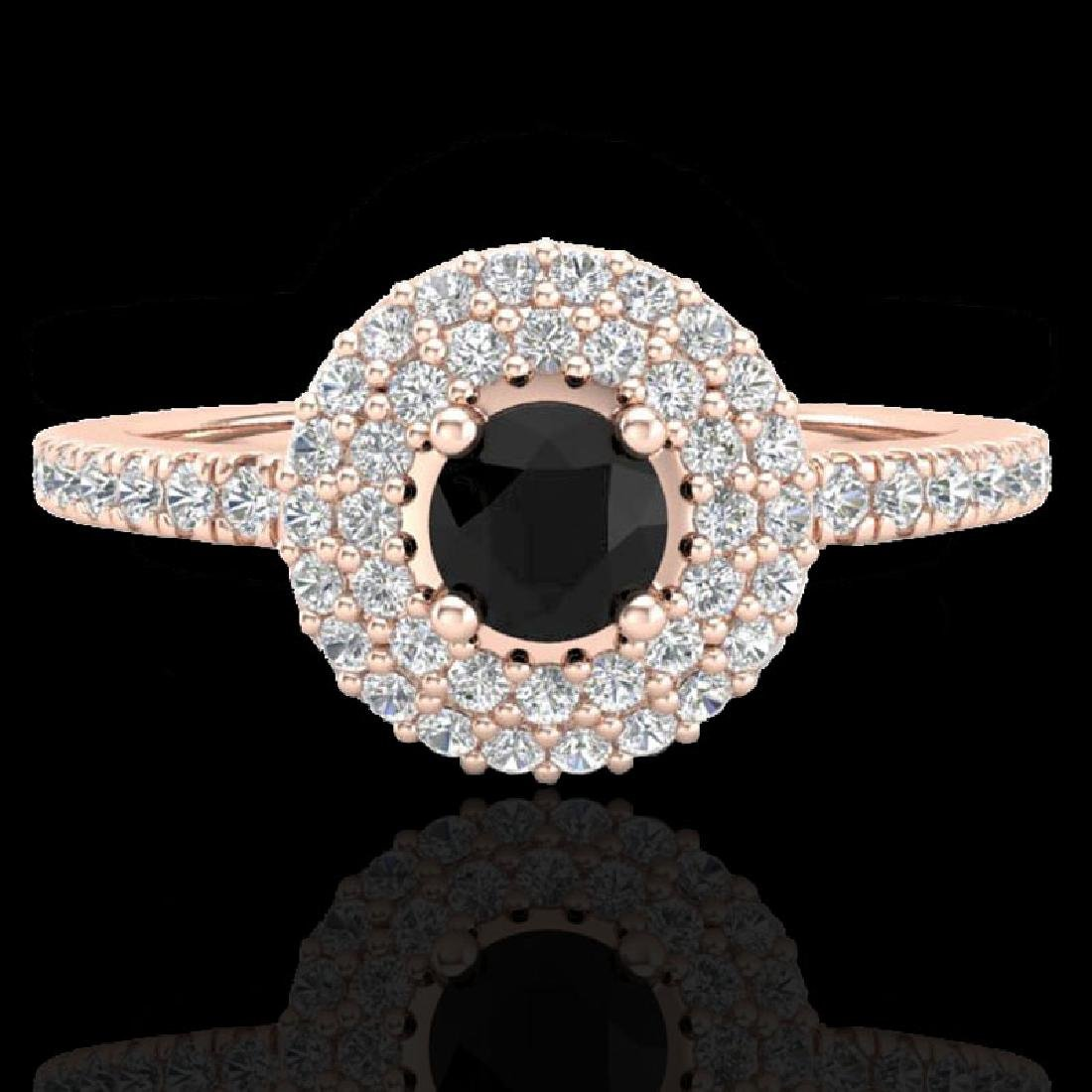 0.80 CTW Micro VS/SI Diamond Designer Ring 14K Rose