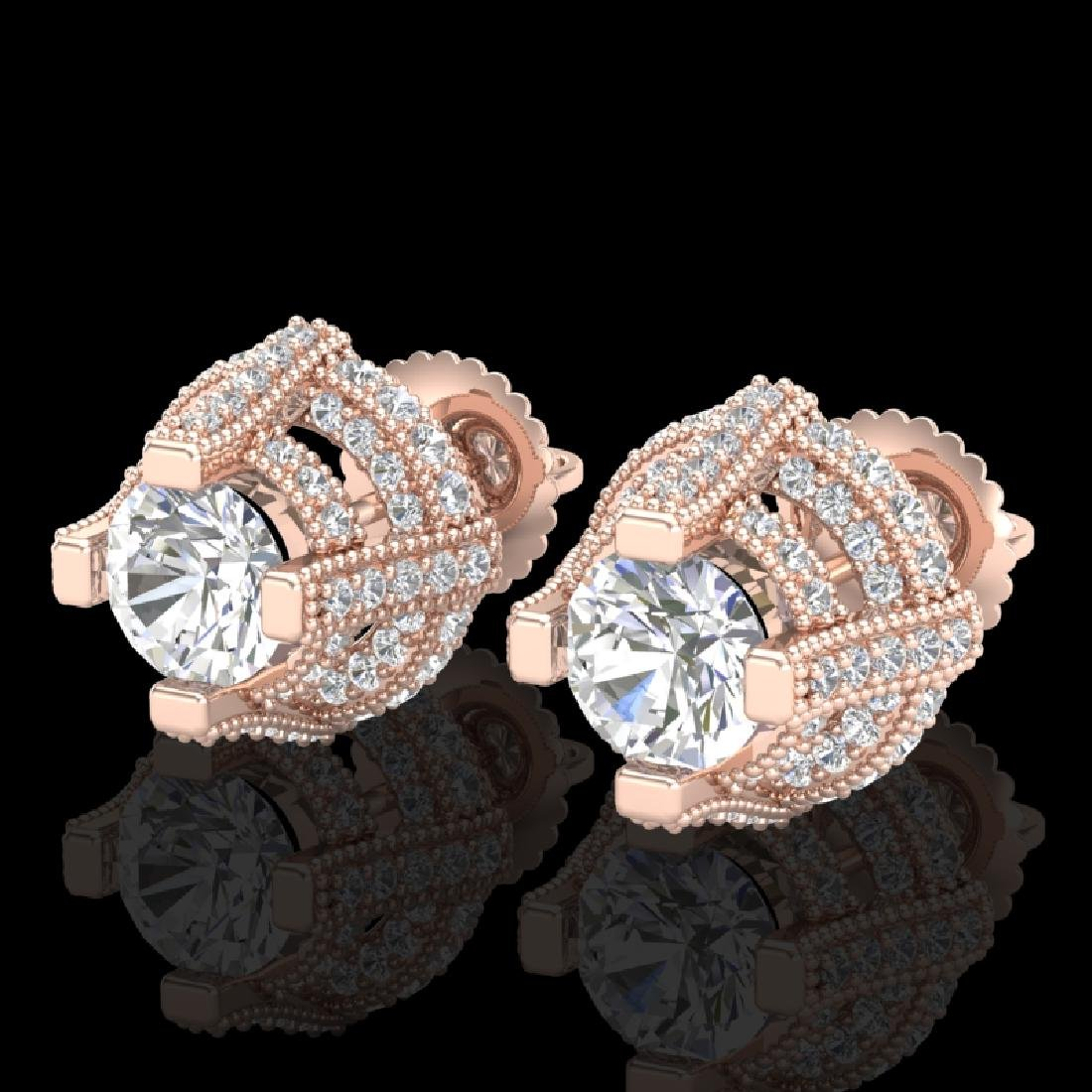 2.75 CTW VS/SI Diamond Solitaire Micro Pave Stud