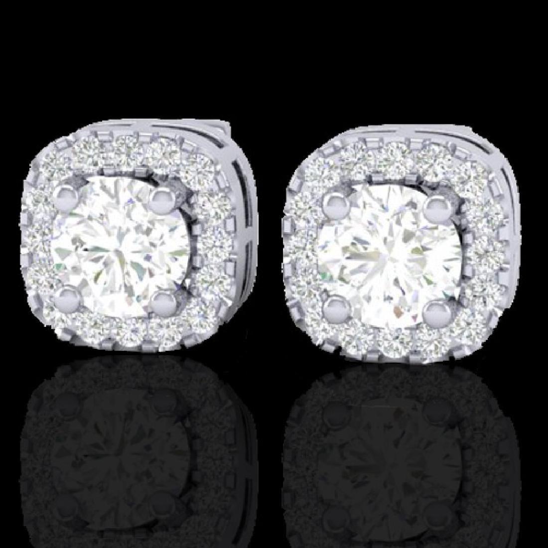 0.75 CTW Micro Pave VS/SI Diamond Earrings Designer