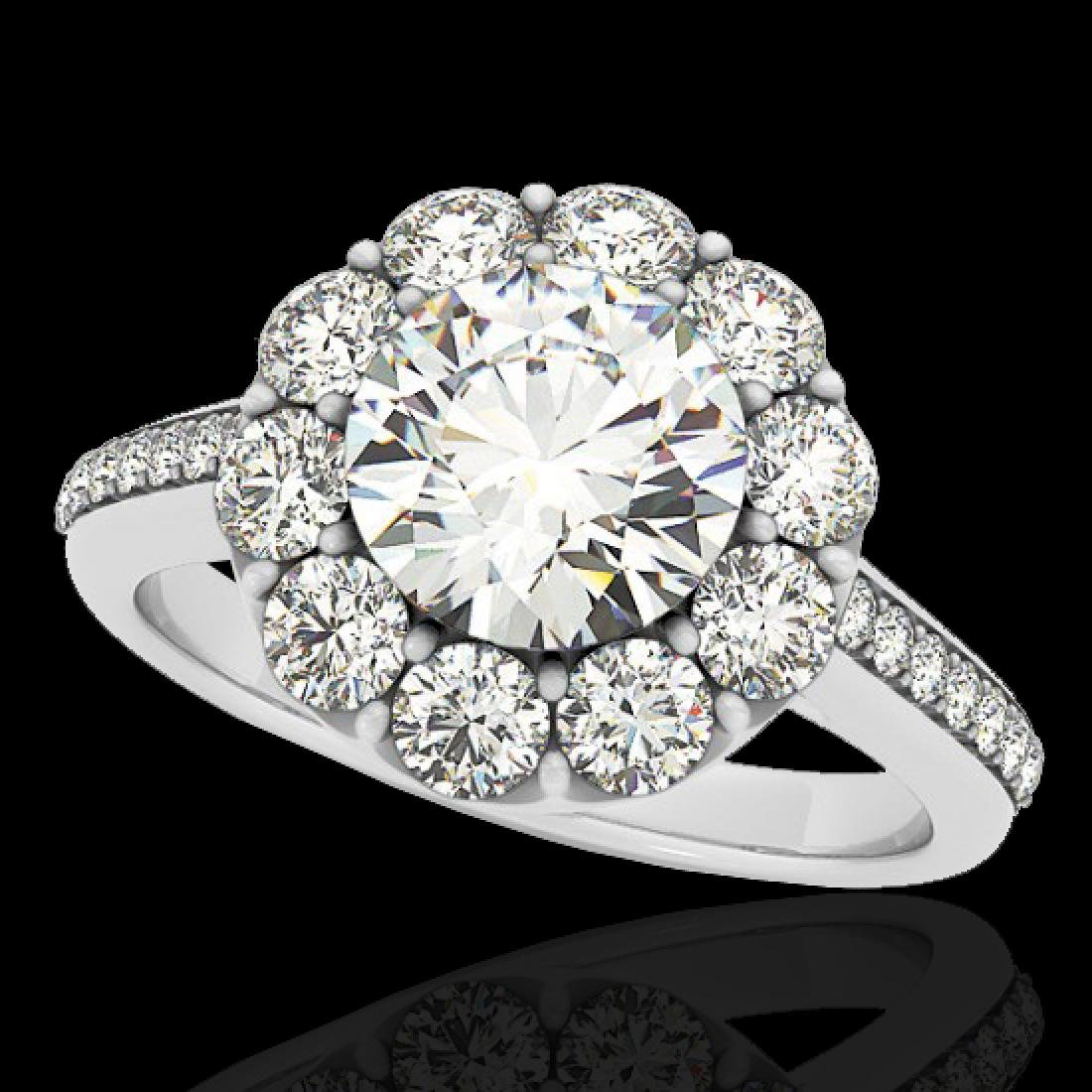 2.75 CTW H-SI/I Certified Diamond Solitaire Halo Ring