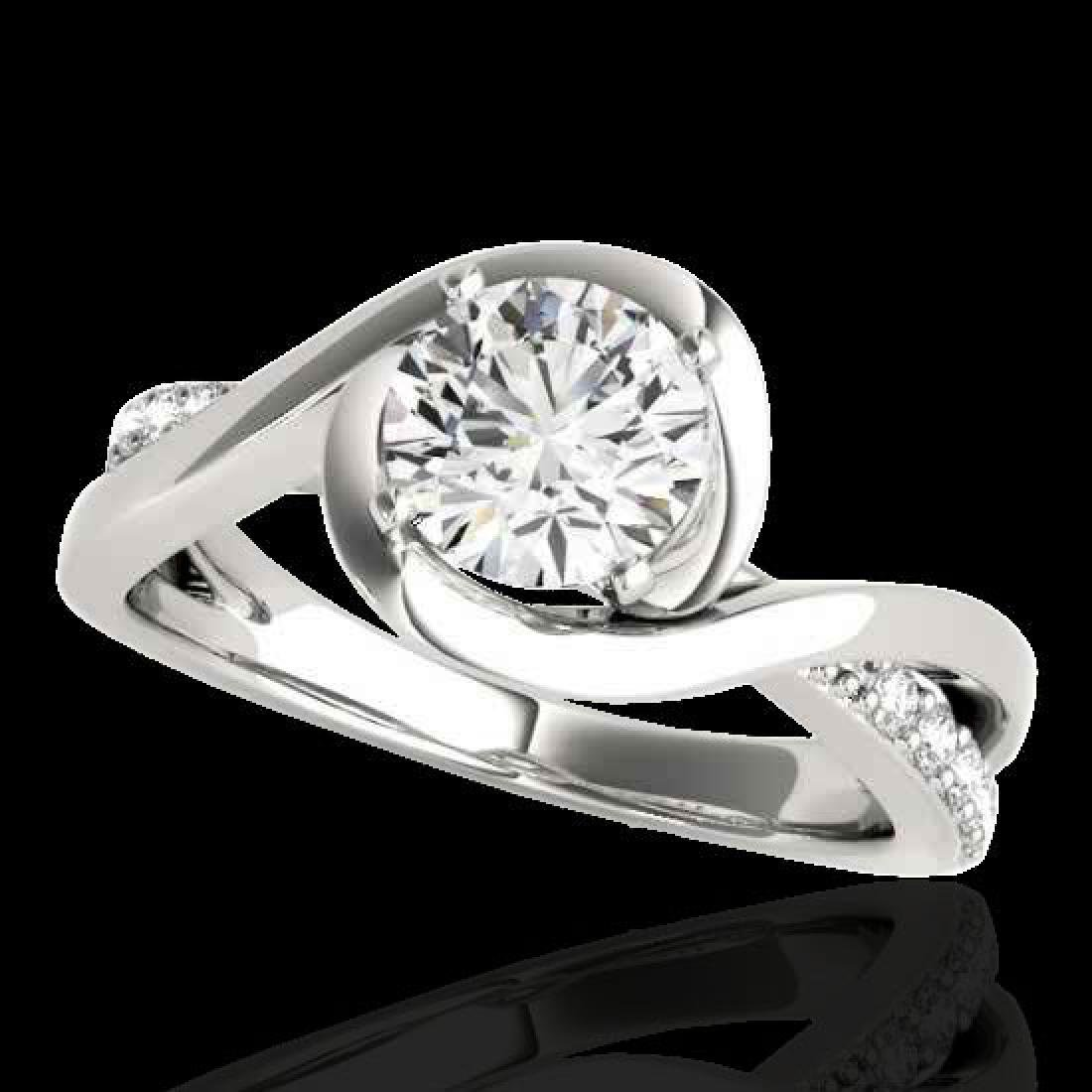 1.15 CTW H-SI/I Certified Diamond Solitaire Ring 10K