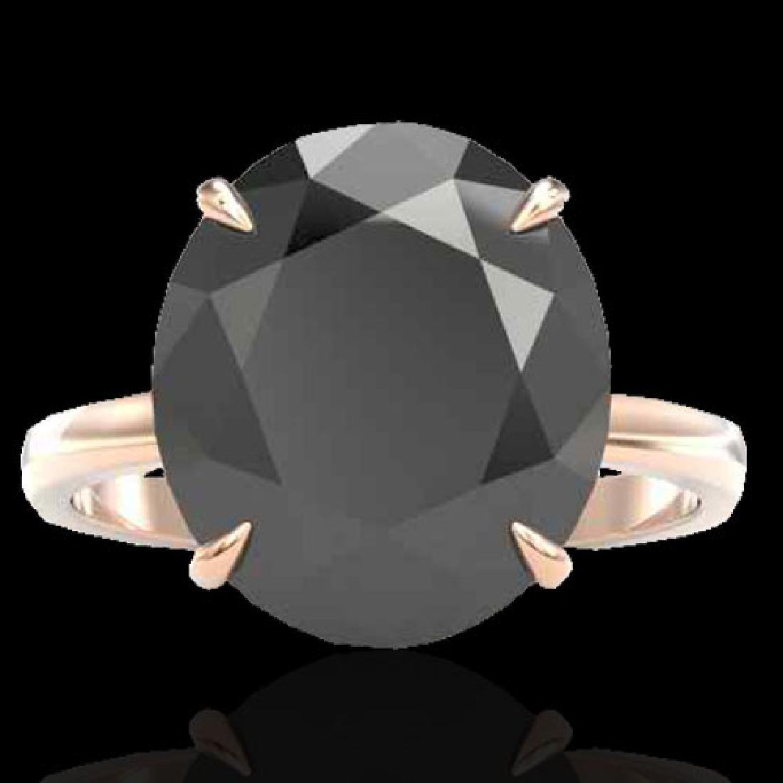 9 CTW Black VS/SI Diamond Designer Engagement Ring 14K