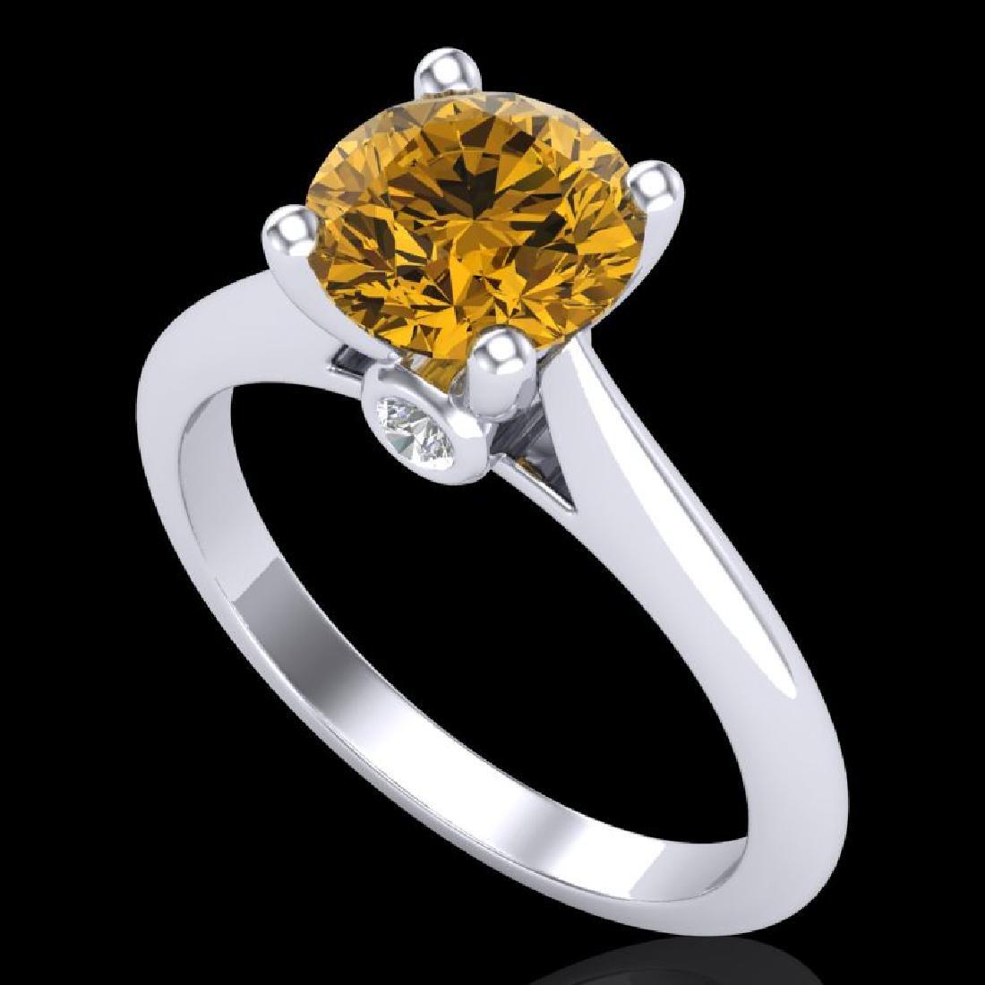 1.6 CTW Intense Fancy Yellow Diamond Engagement Art