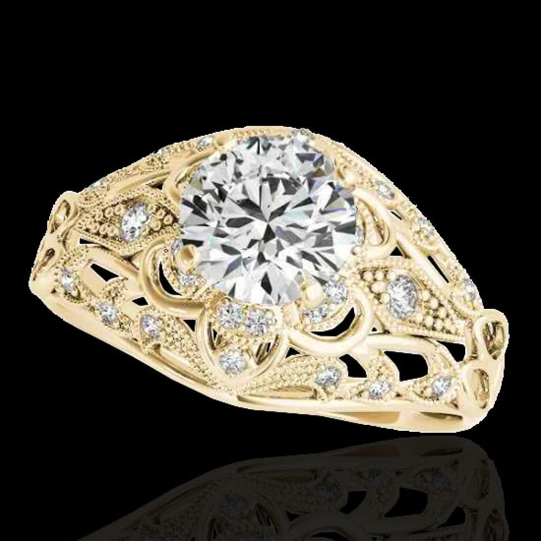 1.36 CTW H-SI/I Certified Diamond Solitaire Antique