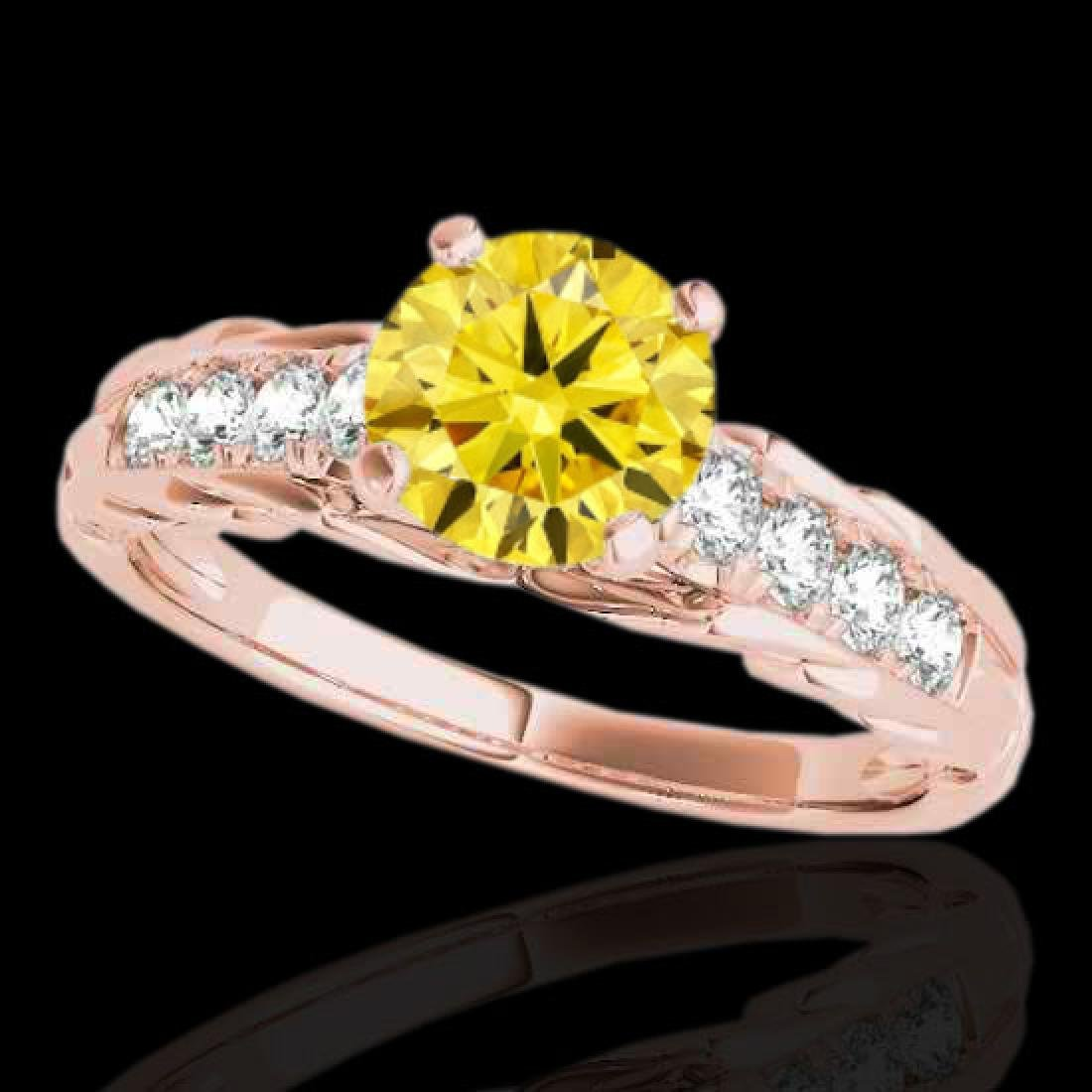 1.2 CTW Certified SI/I Fancy Intense Yellow Diamond