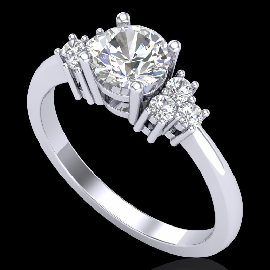 1 CTW VS/SI Diamond Solitaire Ring 18K White Gold