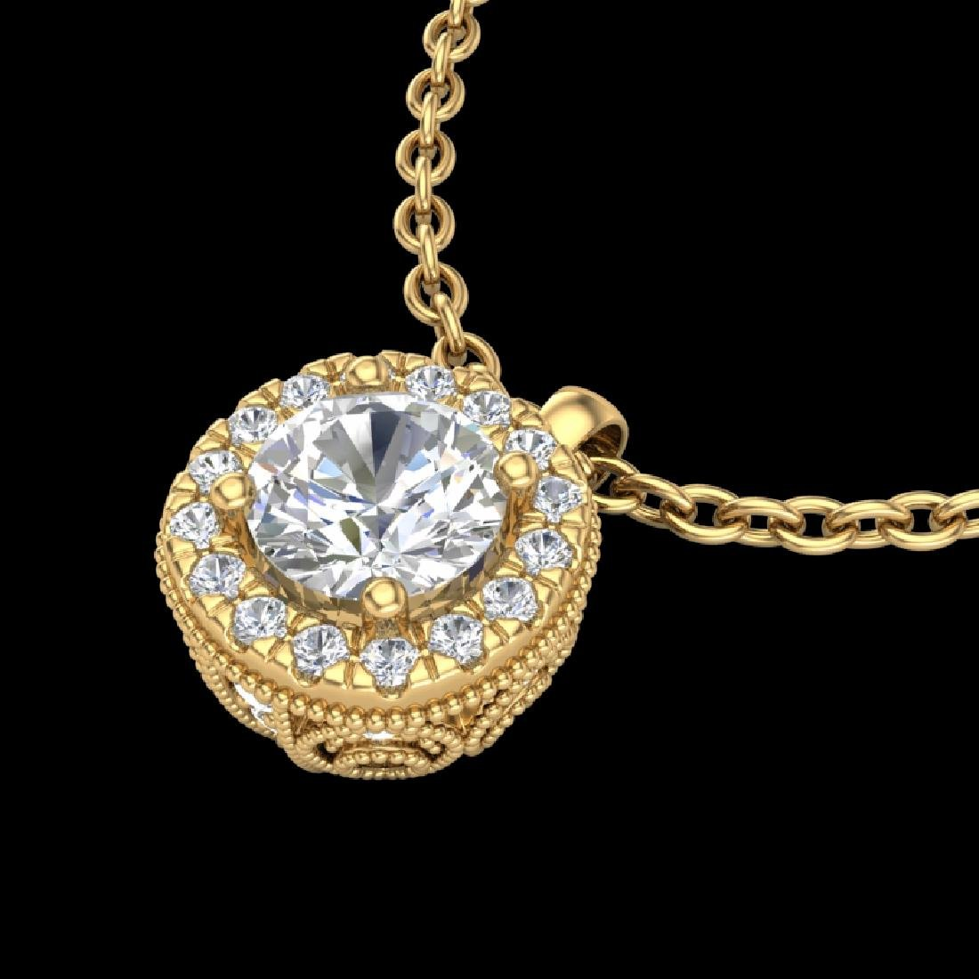 1.1 CTW VS/SI Diamond Solitaire Art Deco Stud Necklace