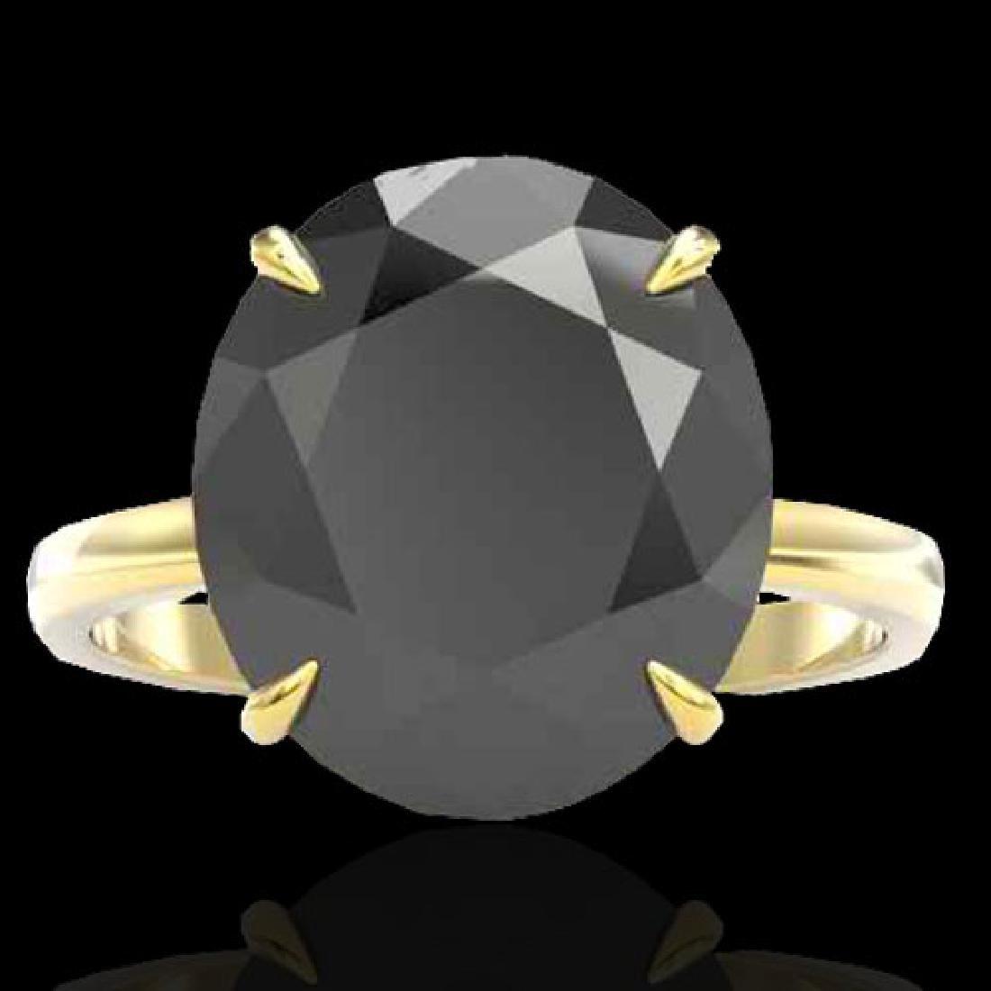 9 CTW Black VS/SI Diamond Designer Engagement Ring 18K