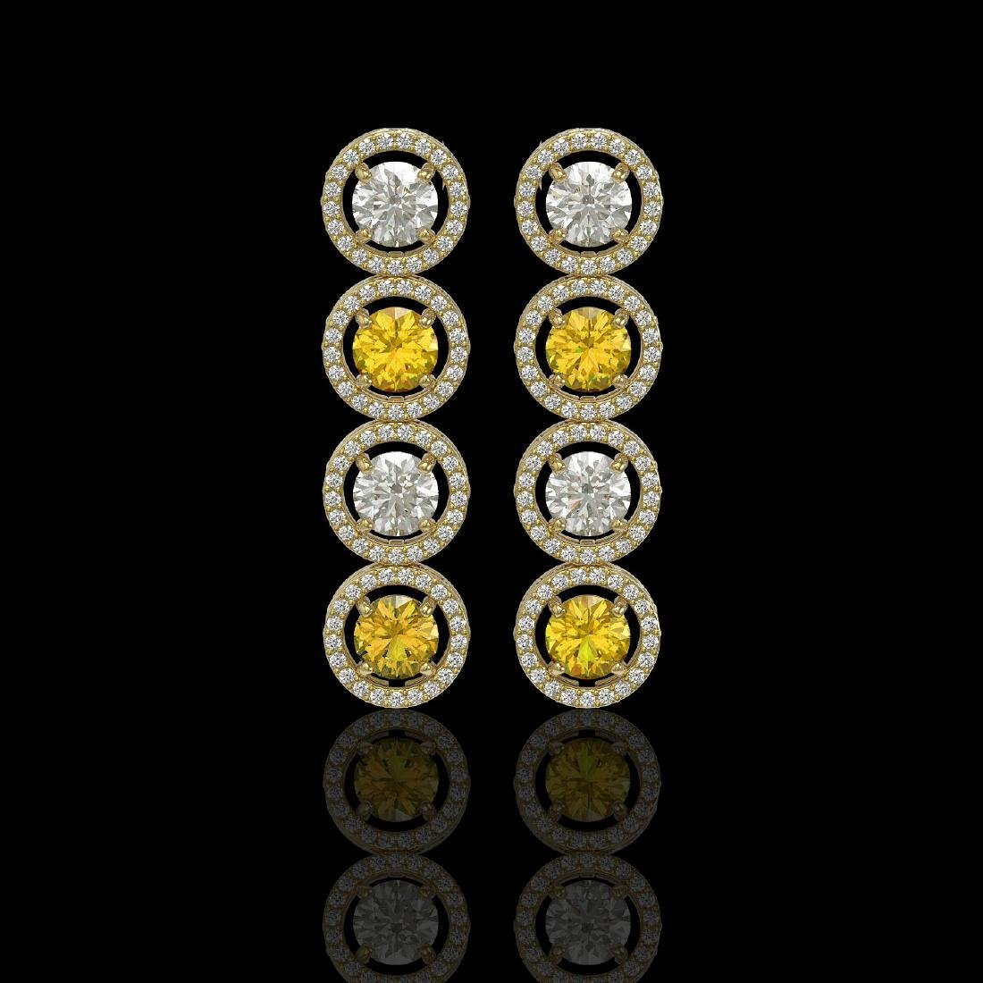 5.50 CTW Canary Yellow & White Diamond Designer