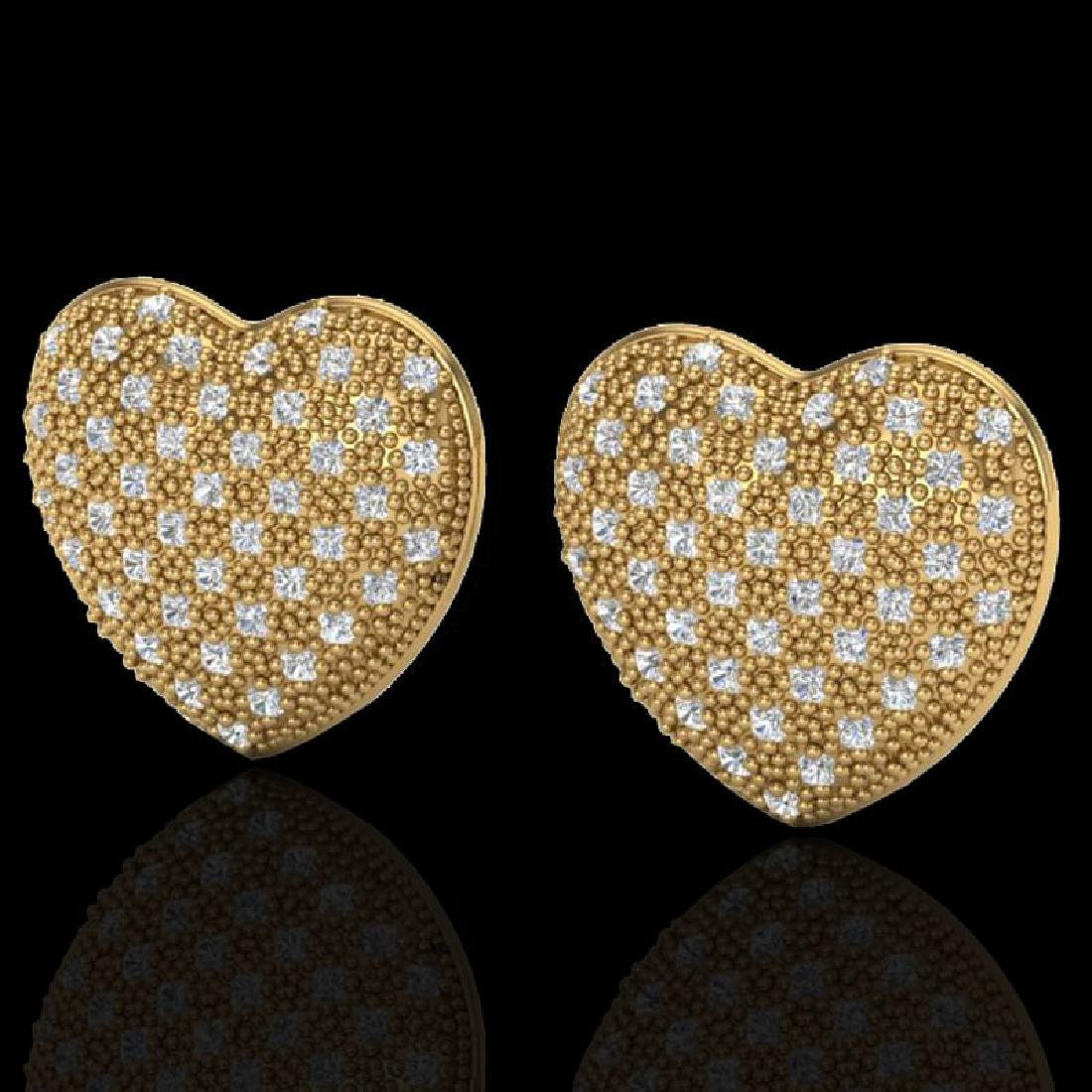 1.50 CTW Designer Micro Pave VS/SI Diamond Heart