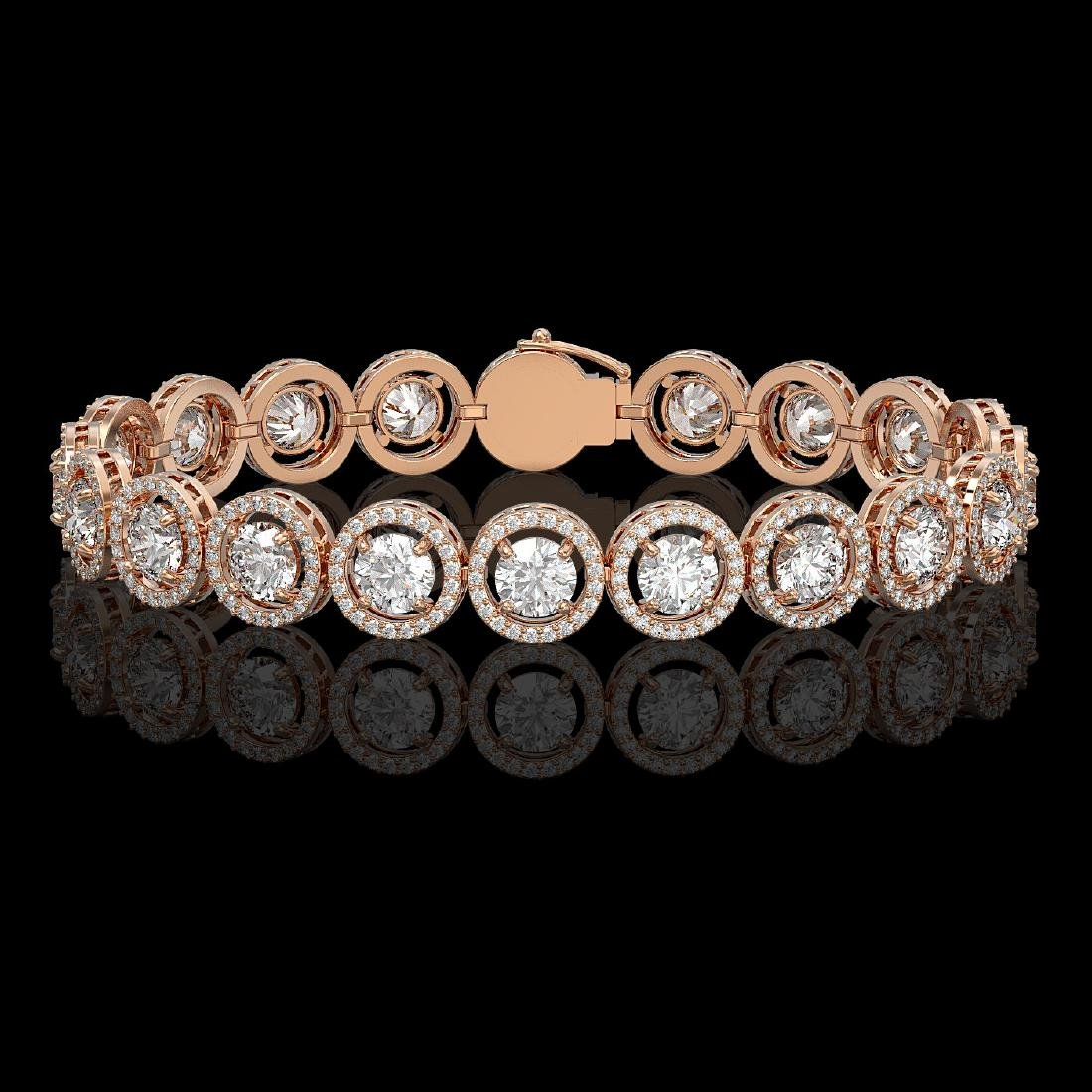 13.42 CTW Diamond Designer Bracelet 18K Rose Gold