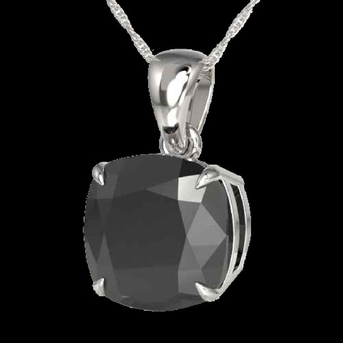 6 Cushion Cut Black VS/SI Diamond Designer Necklace 18K