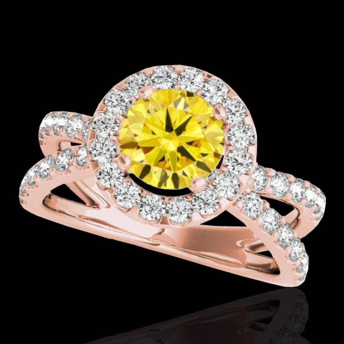 2.01 CTW Certified SI/I Fancy Intense Yellow Diamond