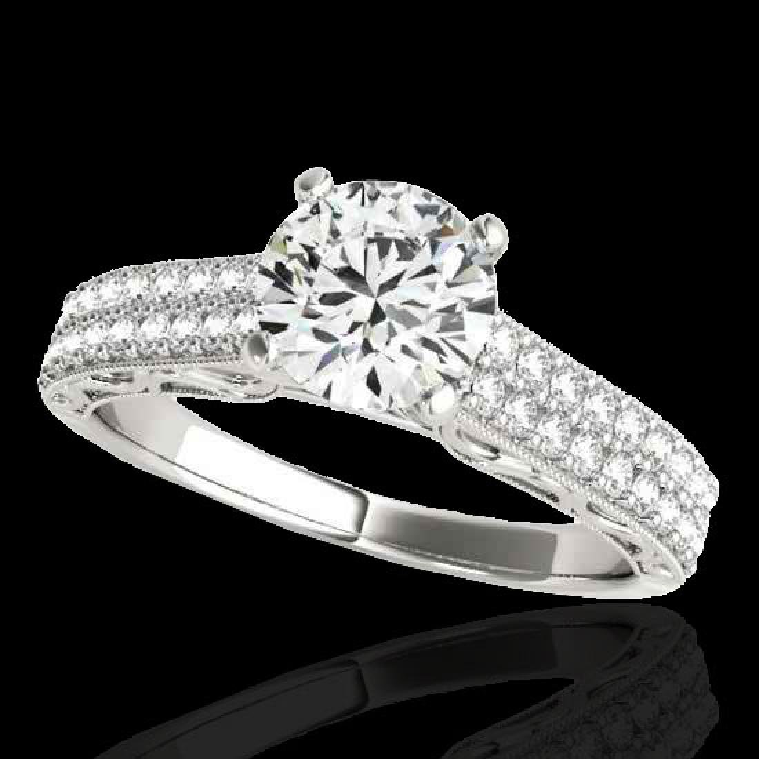 1.91 CTW H-SI/I Certified Diamond Solitaire Antique