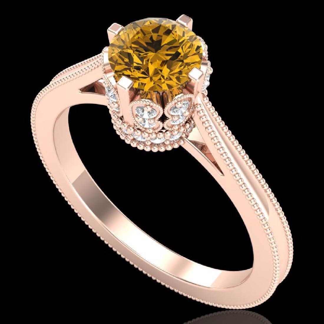 1.14 CTW Intense Fancy Yellow Diamond Engagement Art