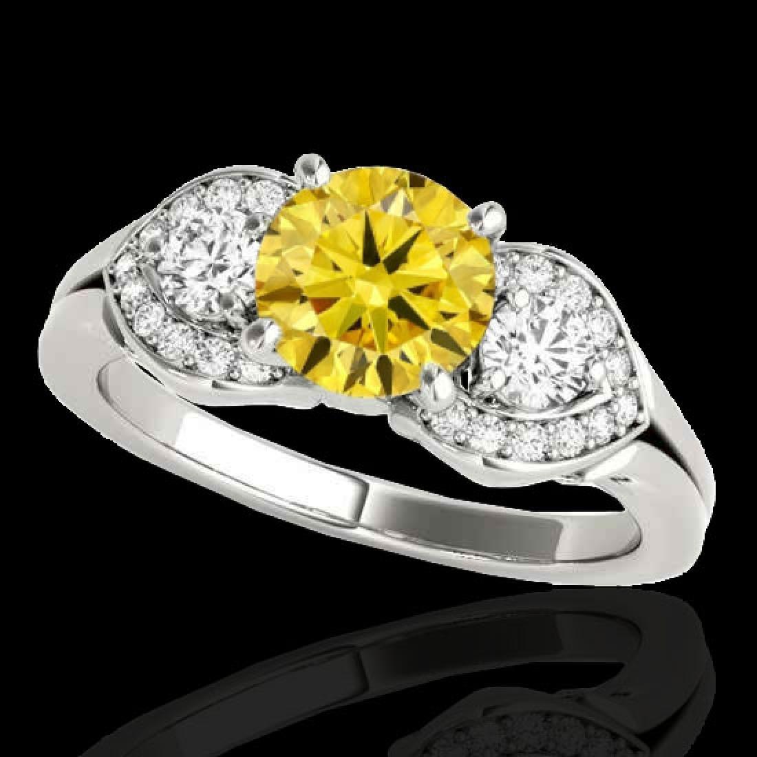 1.45 CTW Certified SI/I Fancy Intense Yellow Diamond 3