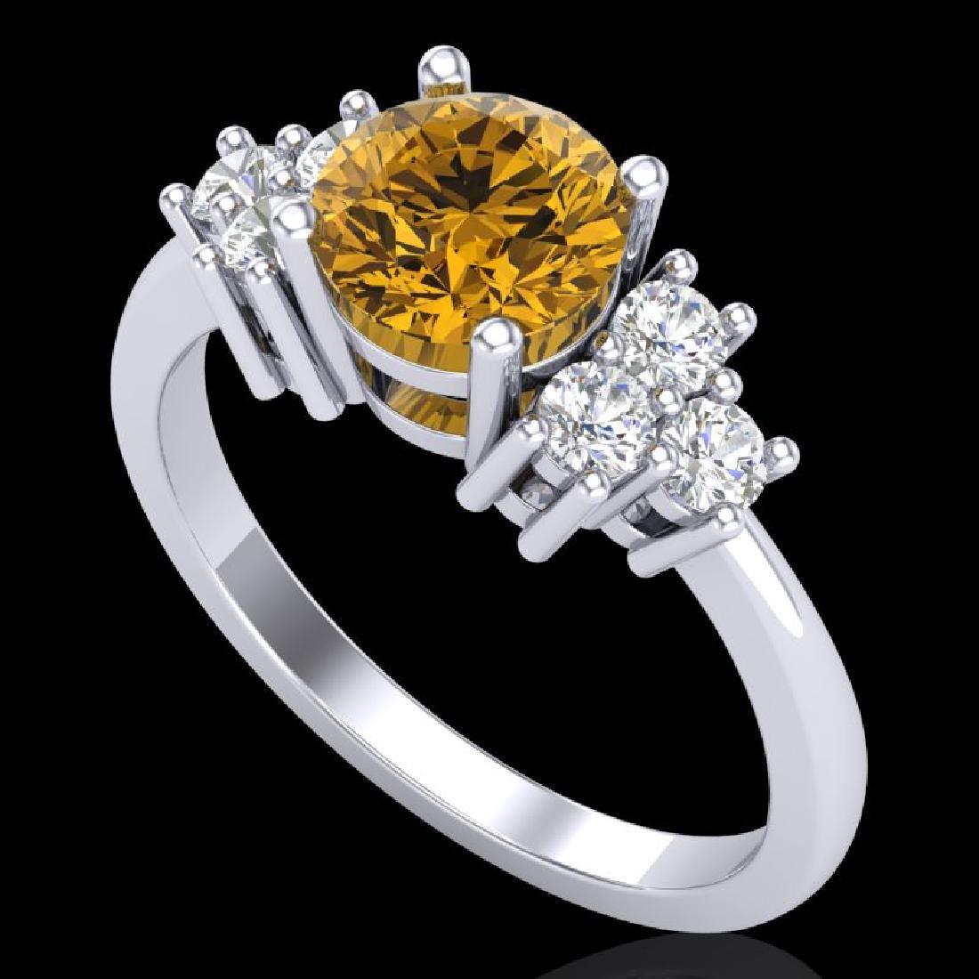 1.5 CTW Intense Fancy Yellow Diamond Solitaire Classic