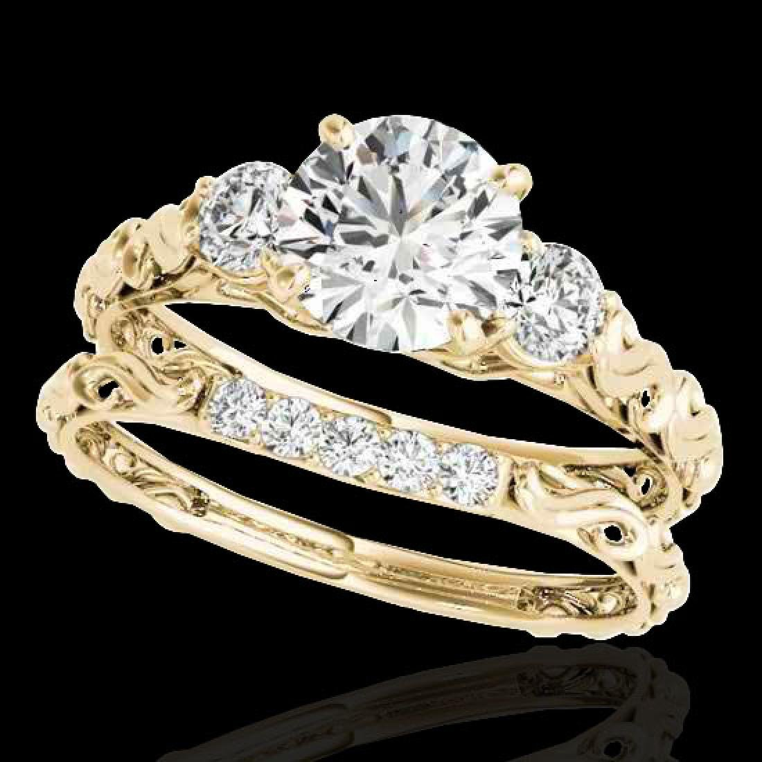1.35 CTW H-SI/I Certified Diamond 3 Stone Ring 10K