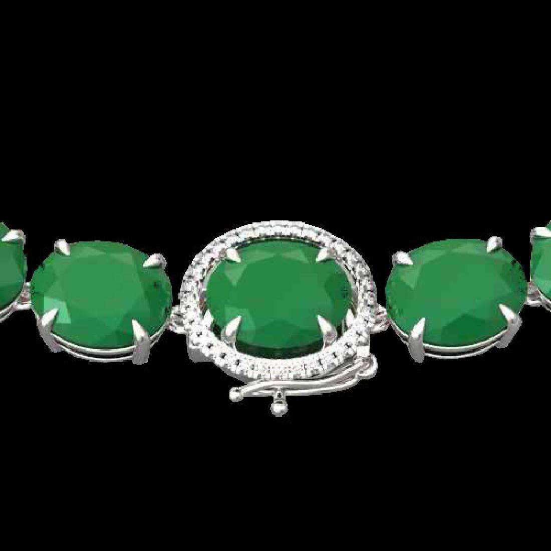 170 CTW Emerald & VS/SI Diamond Halo Micro Solitaire