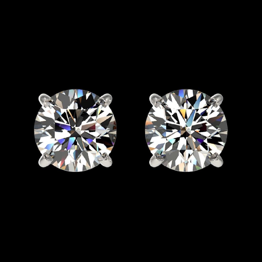 1 CTW Certified H-SI/I Quality Diamond Solitaire Stud