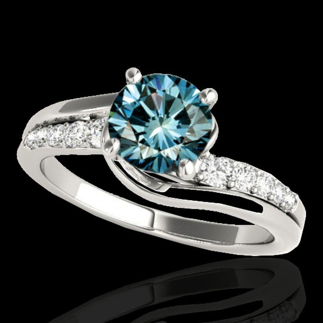 1.31 CTW SI Certified Fancy Blue Diamond Bypass