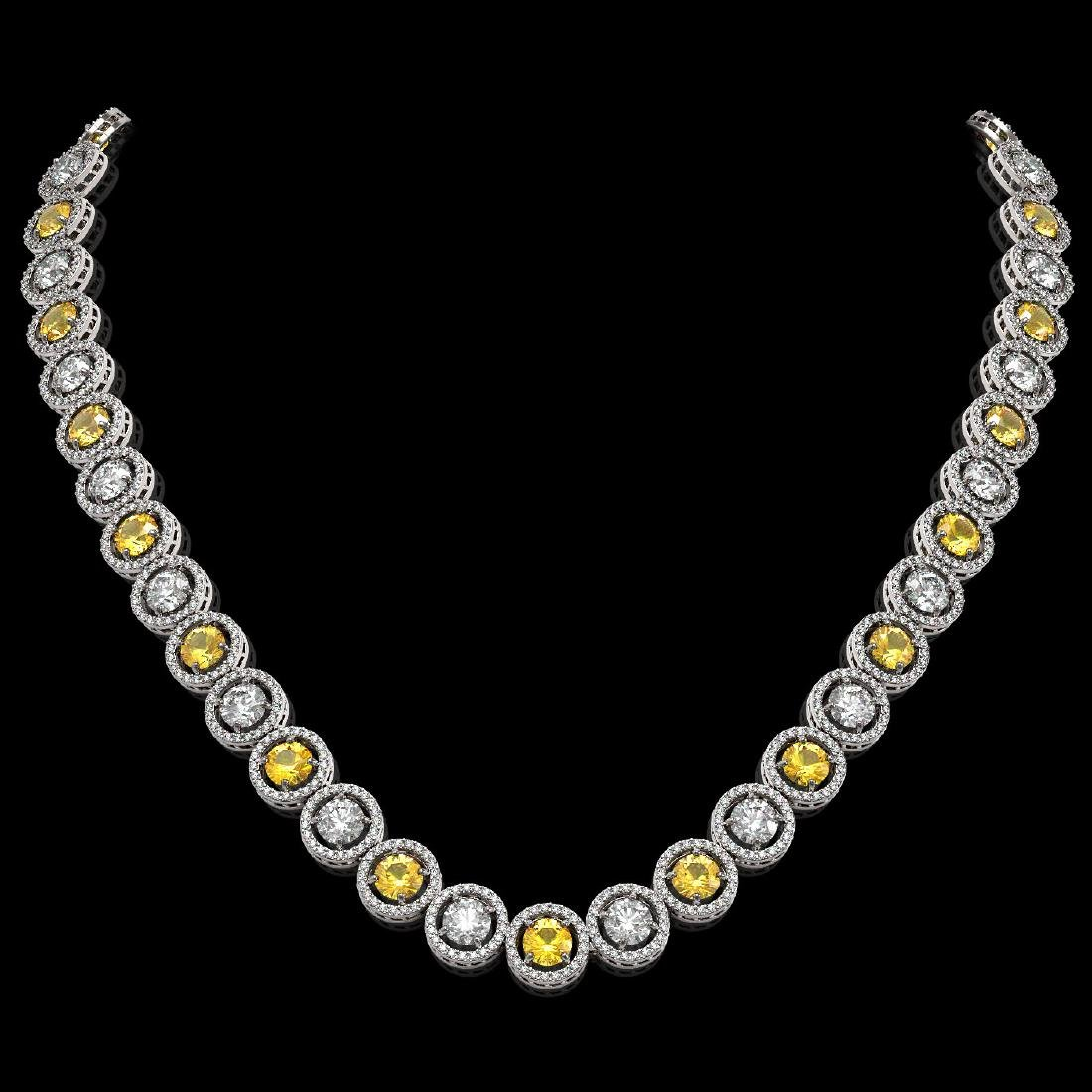 31.64 CTW Canary Yellow & White Diamond Designer