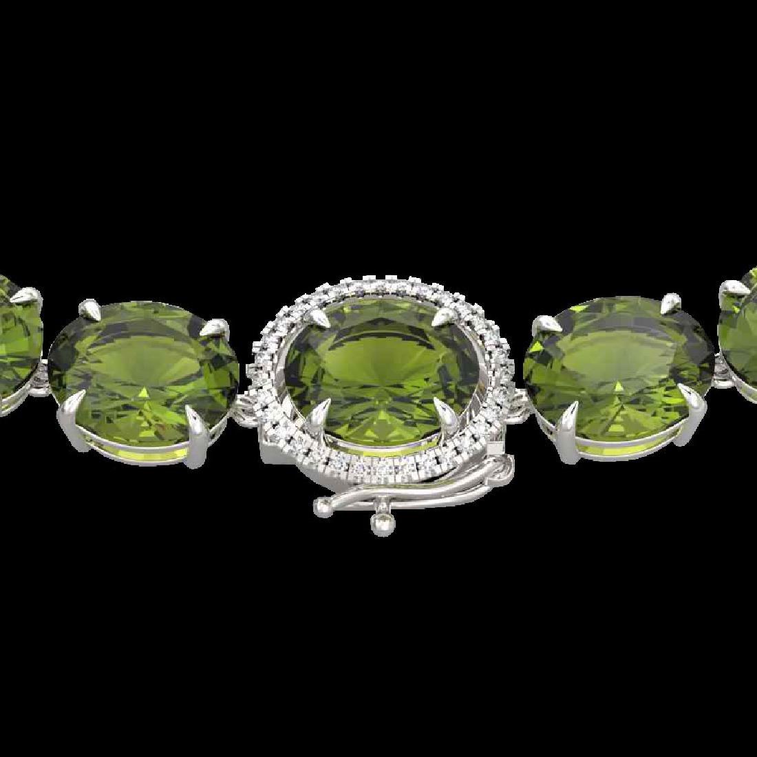 145 CTW Green Tourmaline & VS/SI Diamond Halo Micro