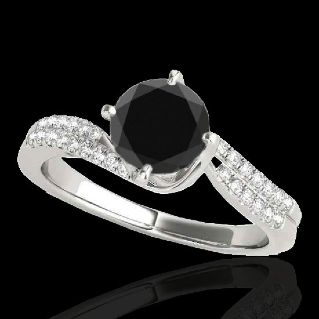 1.2 CTW Certified VS Black Diamond Bypass Solitaire