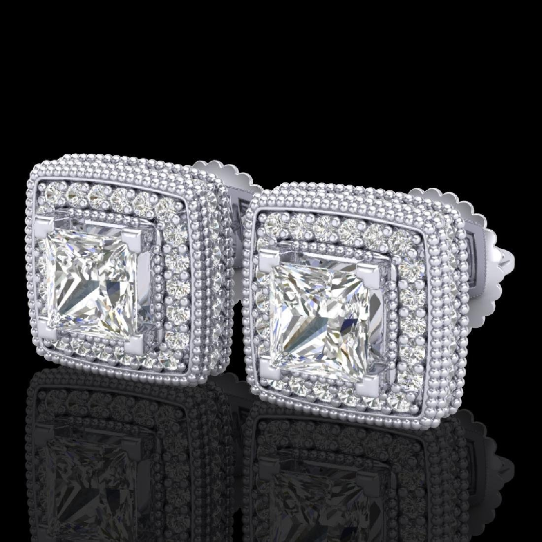 2.01 CTW Princess VS/SI Diamond Solitaire Art Deco