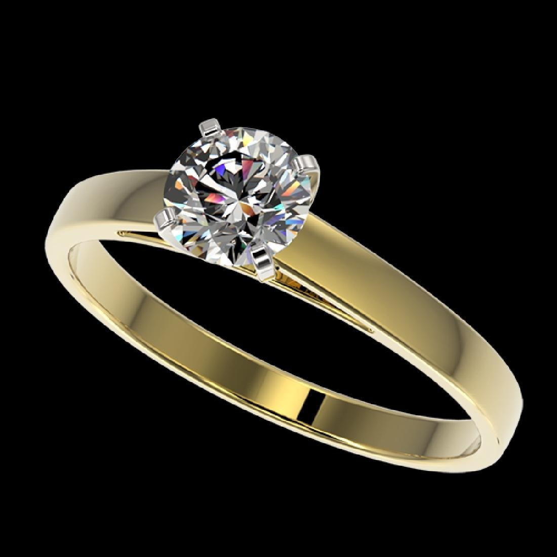 0.73 CTW Certified H-SI/I Quality Diamond Solitaire