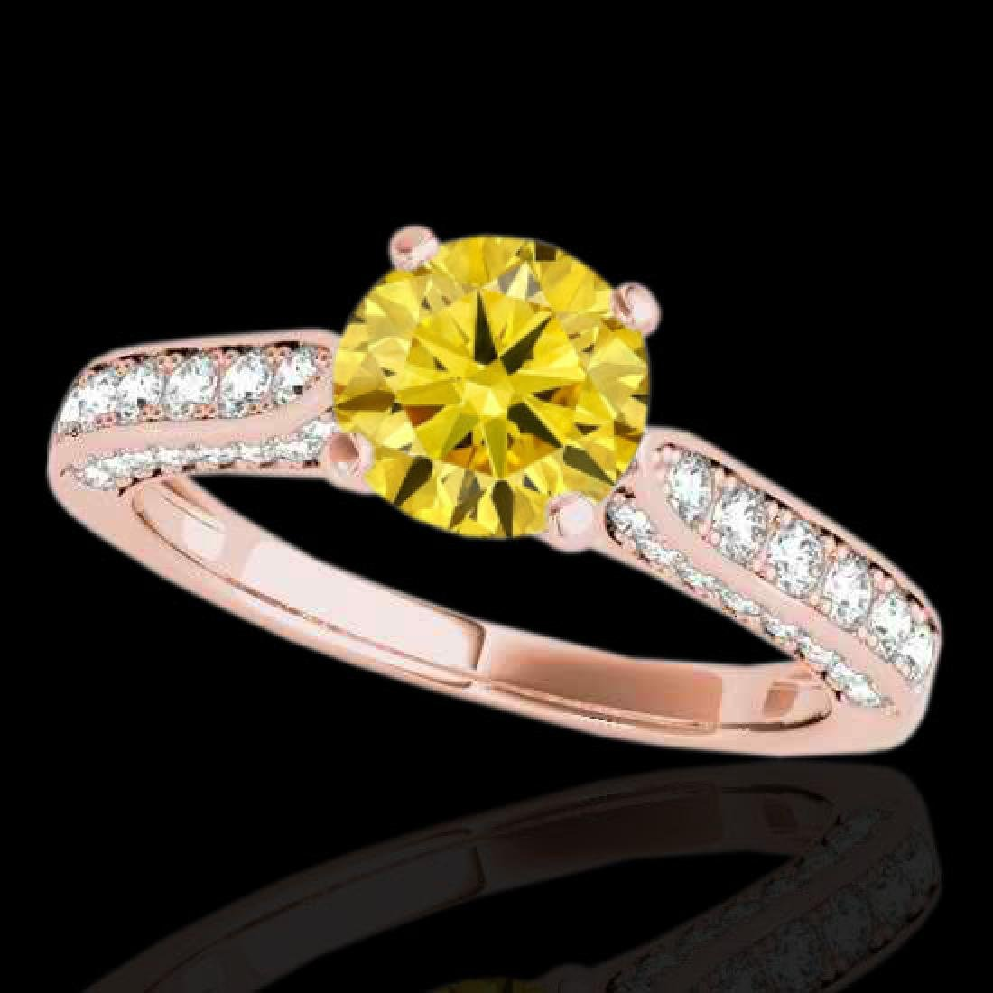 1.6 CTW Certified SI/I Fancy Intense Yellow Diamond