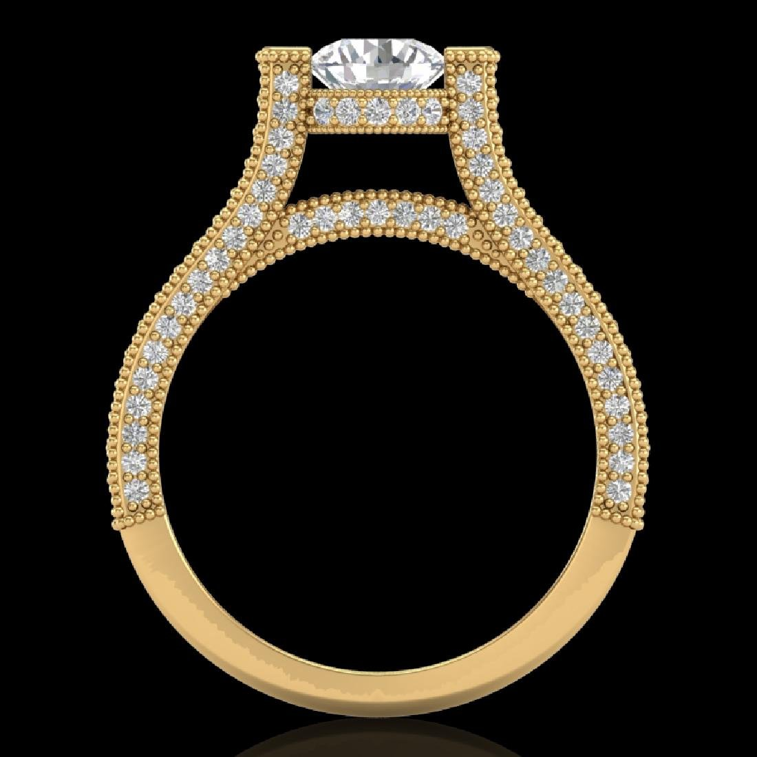 2 CTW VS/SI Diamond Micro Pave Ring 18K Yellow Gold