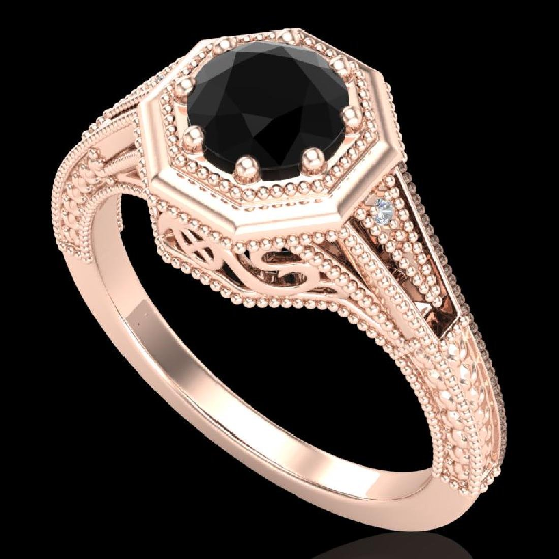 0.84 CTW Fancy Black Diamond Solitaire Engagement Art