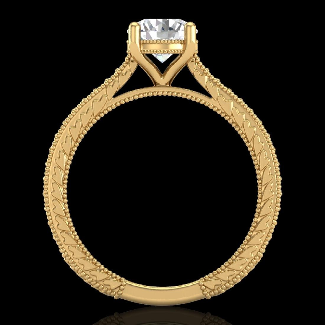 1.45 CTW VS/SI Diamond Art Deco Ring 18K Yellow Gold