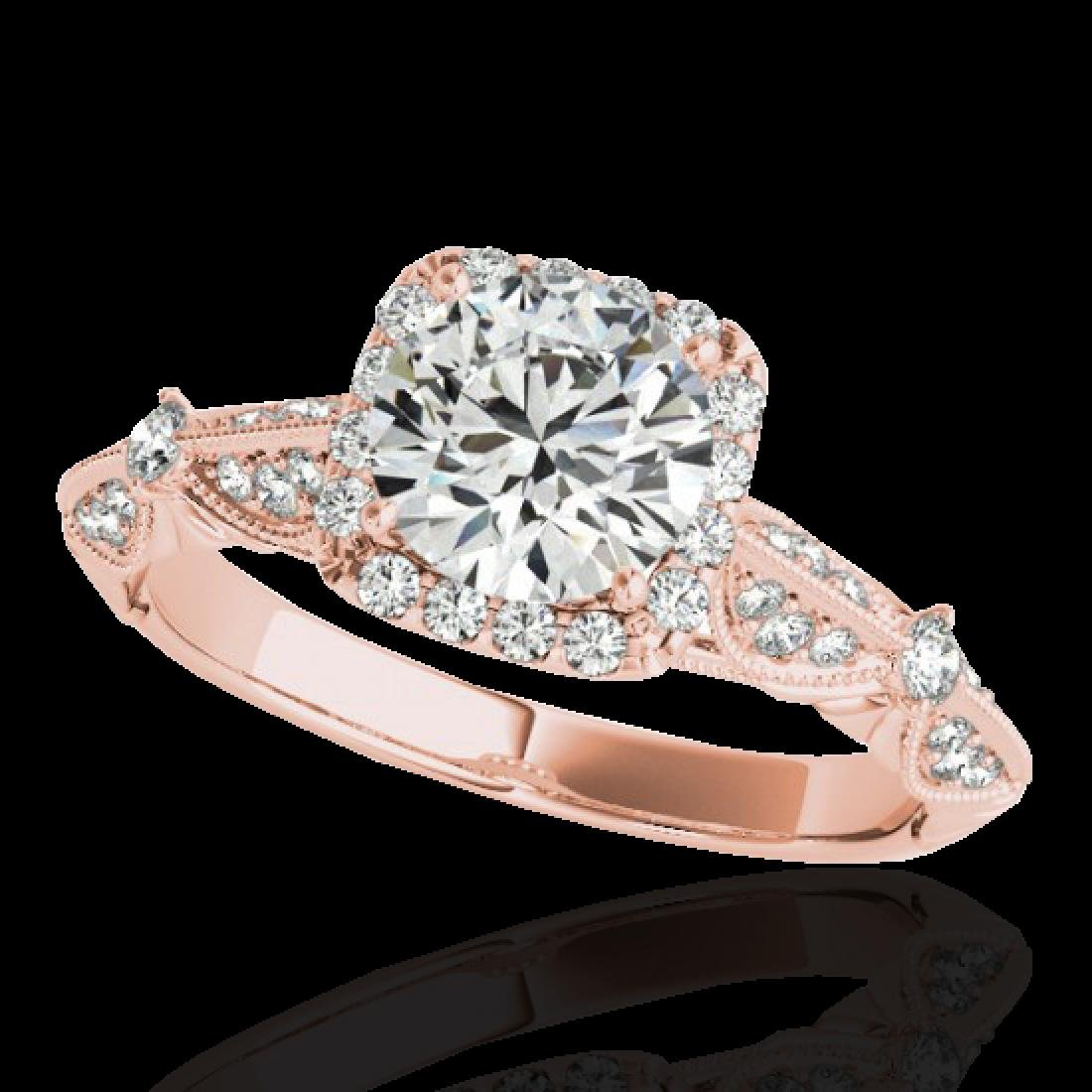 1.36 CTW H-SI/I Certified Diamond Solitaire Halo Ring