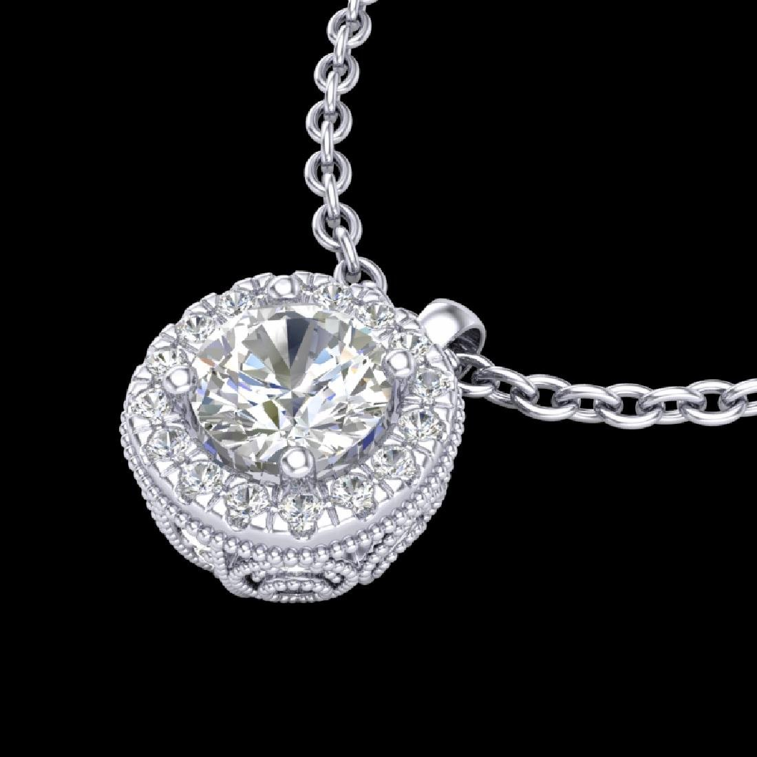 1.1 CTW VS/SI Diamond Solitaire Art Deco Stud Necklace